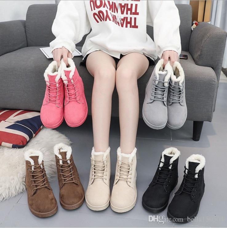 Botas de neve Inverno Mulheres de couro Austrália Clássico ajoelhar-se metade Botas Botas tornozelo Preto Cinza cáqui azul vermelho Mulheres sapatos de menina