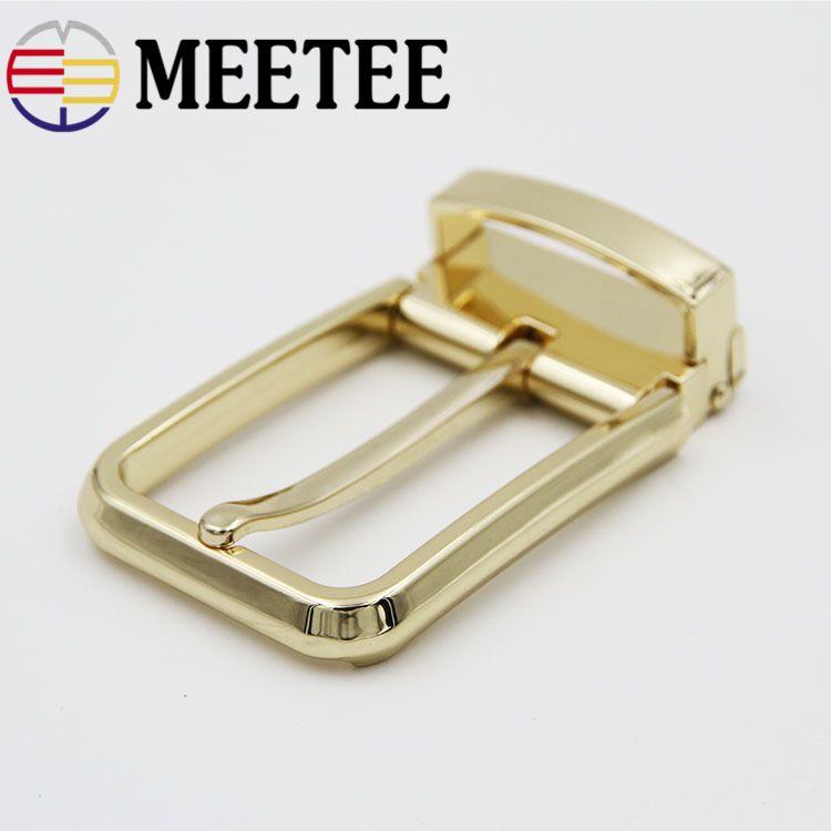 Vintage 1pcs brass pin buckles belt strap adjustable pin buckle