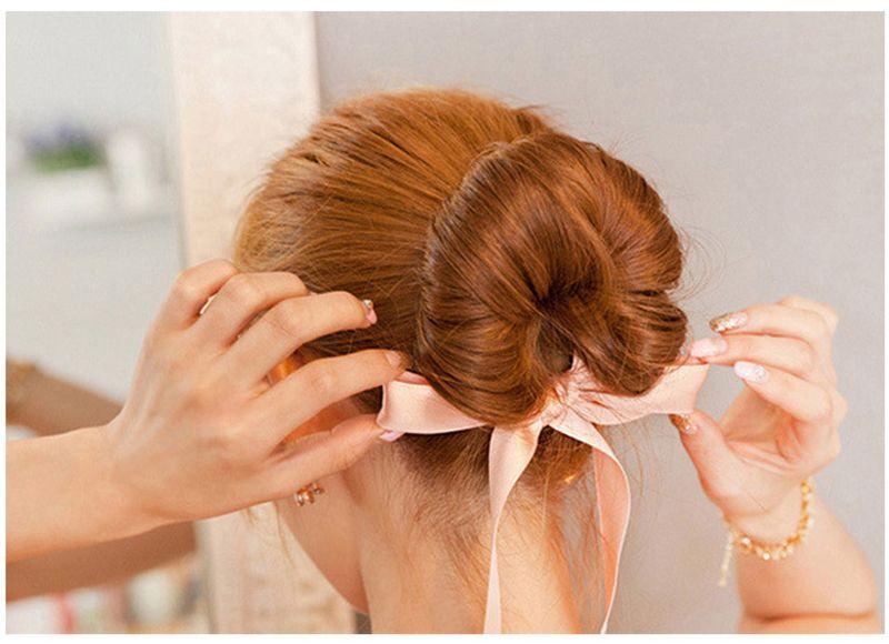 Mode Femmes Accessoires De Cheveux Nouveau Curls Bun Head Band Fabricant De Cheveux Magic Hair Making Tool Ruban Bowknot Fabricant De Pain Nouveau