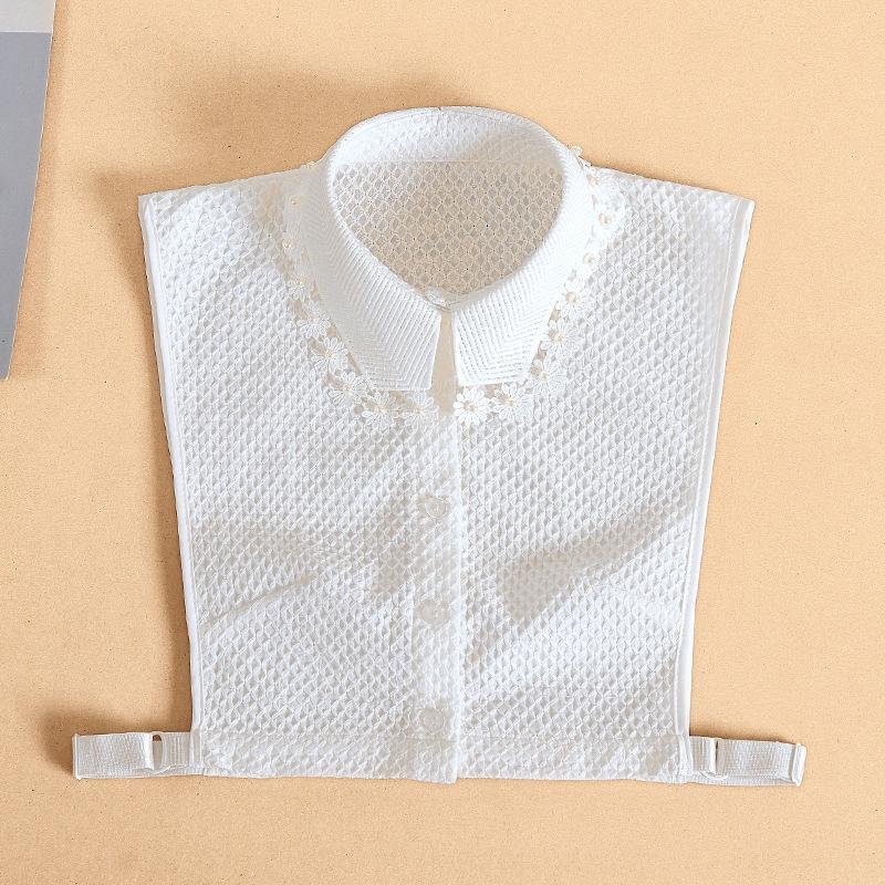 Осенью и зимой новых вышитых хлопок поддельного бисера кружево рубашки детское все соответствующий воротник рубашки кружево бисер декоративного поддельный воротник 6wZqH