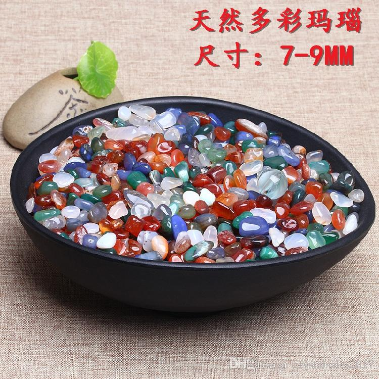 1 Bag 100 g Natural mixed color agate quartz Stone crystal Tumbled Stone (Size: 7--9 mm)