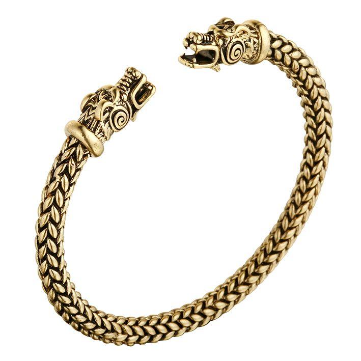 Huilin Jewelry Dragon head Bracelet Nordic Viking Bracelet Enviar regalo de cumpleaños de los hombres