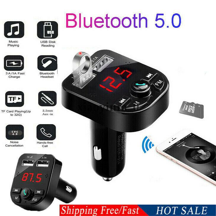 Bluetooth Car USB Charger FM Transmitter Wireless Radio Adapter MP3 Player