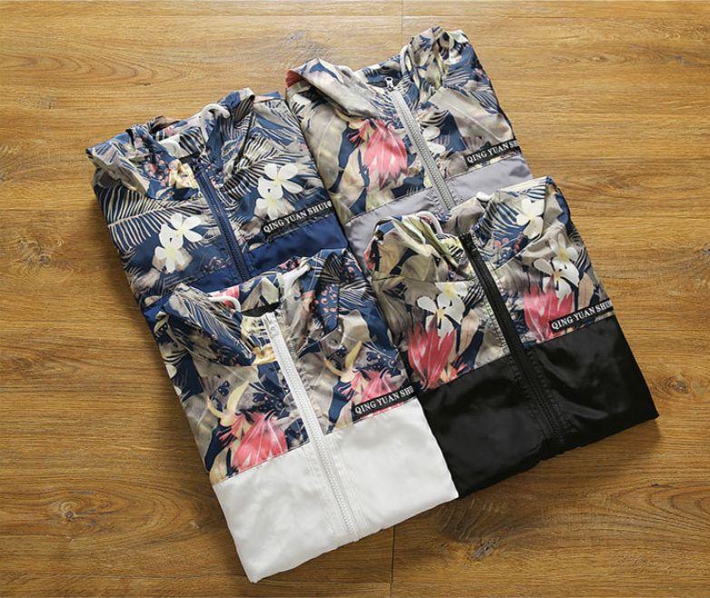 Erkek Tasarımcı Çiçek Ceket Baskı Marka Moda Windproof Coat Lüks çarpıcı Farklı Outswear Sıcak Satış Yeni 6 Renkler 2020 Kış