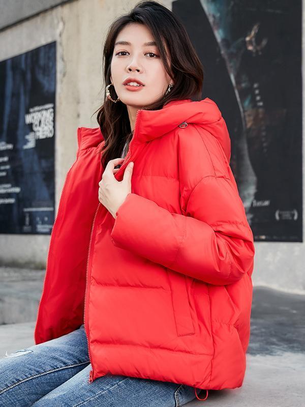 Giacca donna abbigliamento invernale Donna Autunno 2020 Abbigliamento Donne Giù cappotto con cappuccio Giacche Spesso Parka Femminile Ropa Mujer LXR166