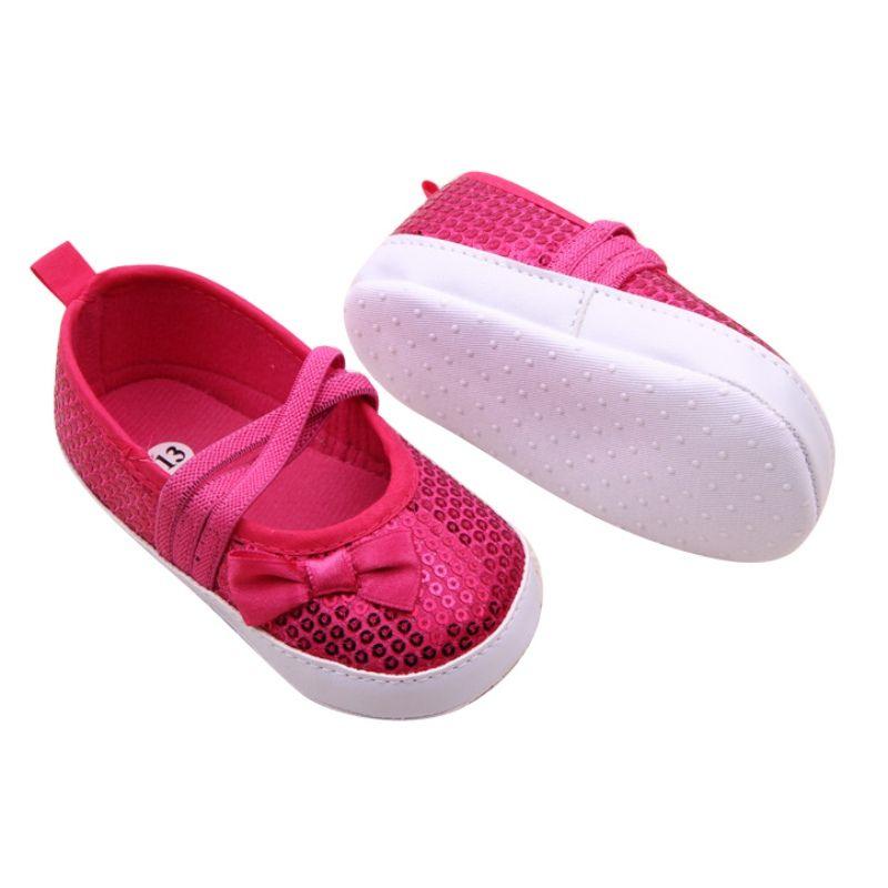 Primavera de outono, menina Bow Bling primeiros mortos-vivos, Crianças Novas Sola Macia Sapatos para andar