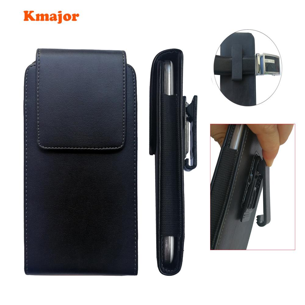 "Kmajor Leather Pouch Case 360 Degrees Swivel Belt Clip Holster Cover for Xiaomi Redmi Note 5 5 plus Mi 8 Mi8 6.21"" for men"