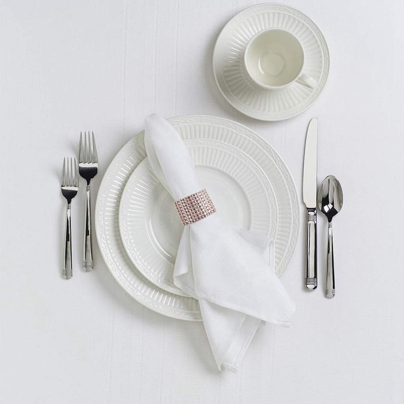 Top-50 Paquet serviette Anneaux, serviette Anneaux d'or pour Buckles Décoration de table, mariage, Dîner, Fête, Bricolage Décoration