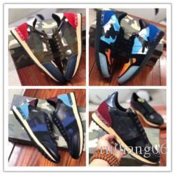 nova tira camuflar sapatos amantes rebite desporto primavera outono sapatos casuais lacing moda confortáveis sapatos desportivos respirável k0251