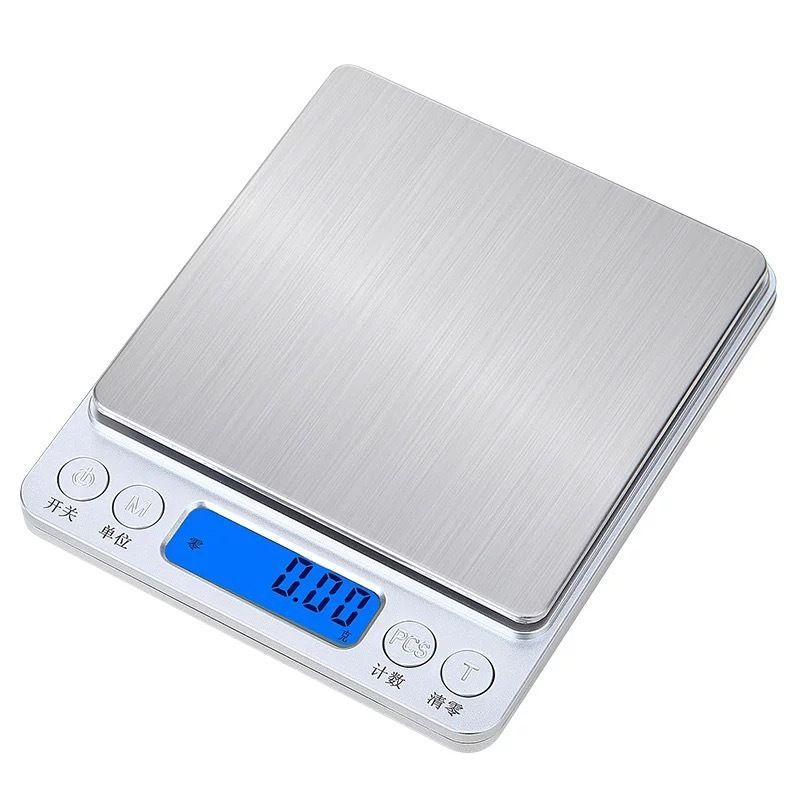 Jóias Balança de cozinha Digital Mini bolso de aço inoxidável de alta precisão Escala de Equilíbrio de gramas de peso eletrônico