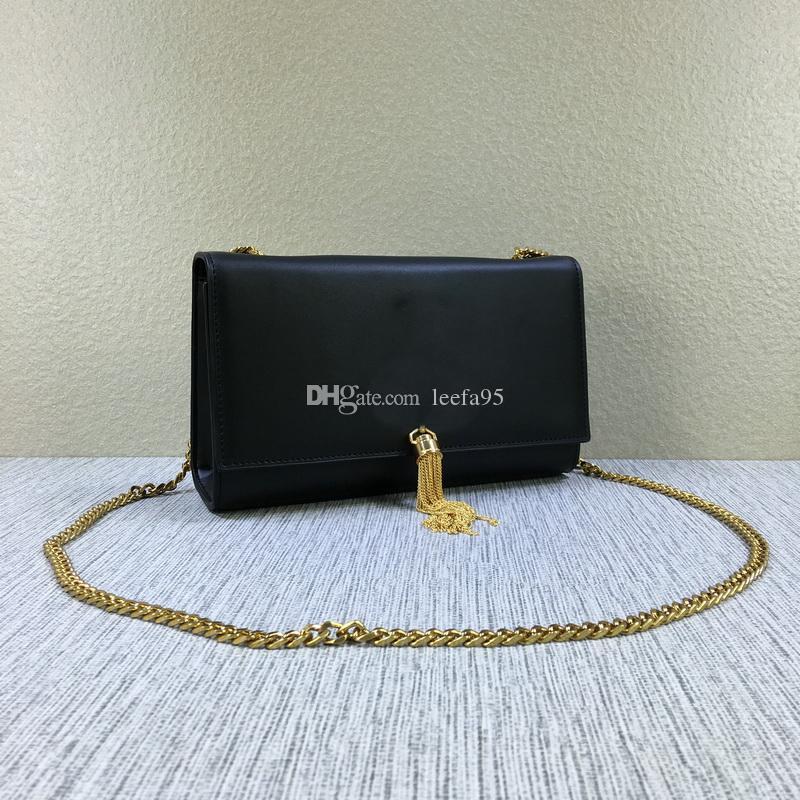 2020 mujeres de buena calidad genuina piel de cordero cadenas de oro de la señora bolsos de hombro de envío libres tienen bolsas de polvo Y # 14 Carteras