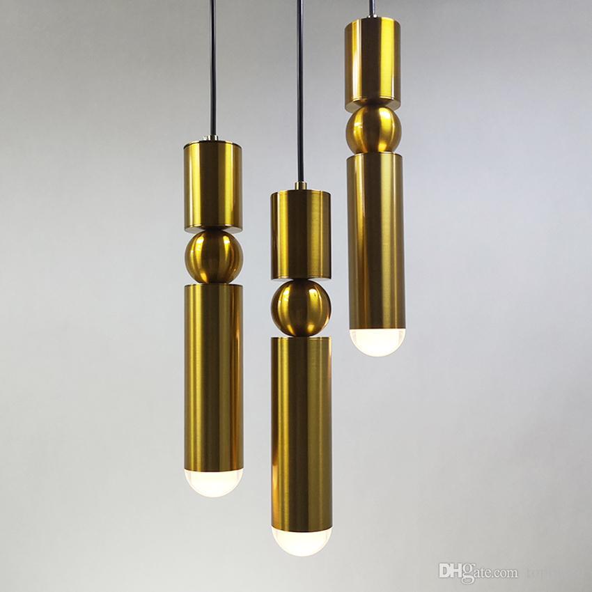 1 pcs Nordic moderno luzes pingente banhado a ouro ferro de prata criativo lâmpada pendurada sala de jantar sala de estar varanda luminária