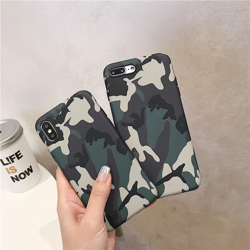Охладить армии Camo Камуфляж телефон Чехлы для IPhone 11 Pro 300pcs Max X XS XS XR Max 6 6S 7 8 Plus X Army Green Cover Case DHL