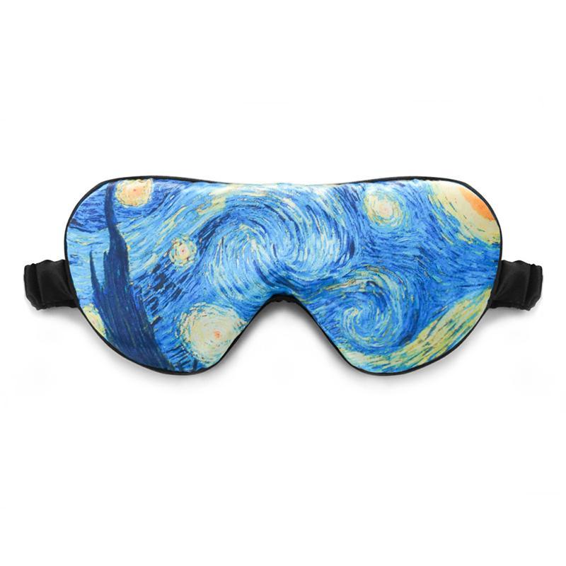 Creativa último diseño hermoso color de impresión Viajes seda máscara de ojo del sueño, máscara del sueño para el mejor regalo