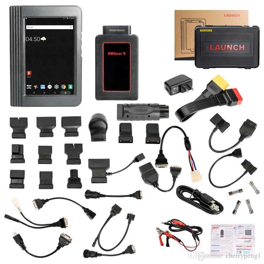 발사 X431 V 8 인치 태블릿 와이파이 / 블루투스 전체 시스템 진단 도구 2 년 무료 업데이트 온라인