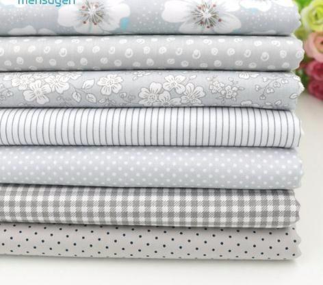 7 unids 40x50 cm algodón gery para patchwork edredones cojines patchwork telas tejido de costura diy artesanía tela