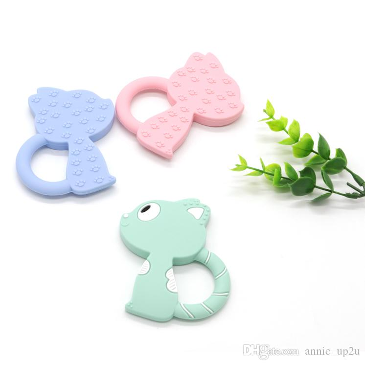 Food Grade Non-toxic Best Silicone Baby Chew Toys For Baby Teething To Bite Colorful Comfortable Size Novelty Squirrel 3 Month old
