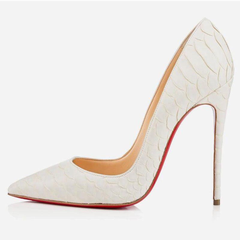 2020 Moda bayan ayakkabı elbise ayakkabı L4C pompaları alt yüksek topuklu 8 ile 10 cm 12cm Nü siyah, kırmızı, pembe deri Sivri Toes kırmızı