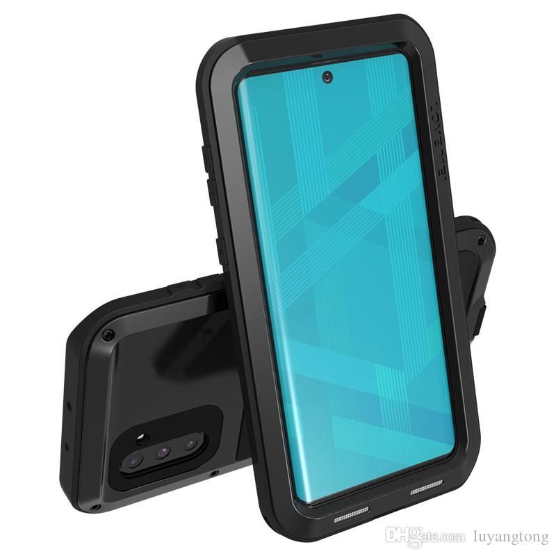 pour Galaxy Note 10 / note10 + amour Mei robuste couverture puissant pour Samsung Galaxy Note 10+ Cas Cas de téléphone en métal