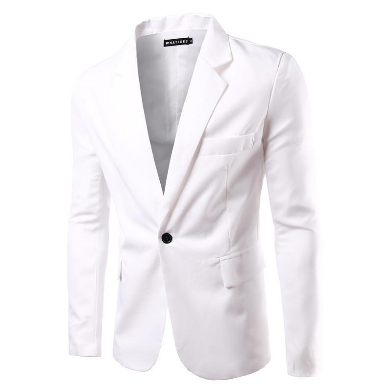 los modelos básicos del color sólido de la moda de primavera 2017 de los nuevos hombres de alta calidad única fila de una chaqueta de traje de la hebilla del ocio