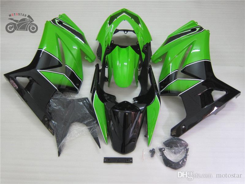 Los carenados inyección a la medida para Kawasaki Ninja 250R 08 09 10 11 14 ZX250R 2008-2014 verde de reparación del cuerpo negro kit de carenado