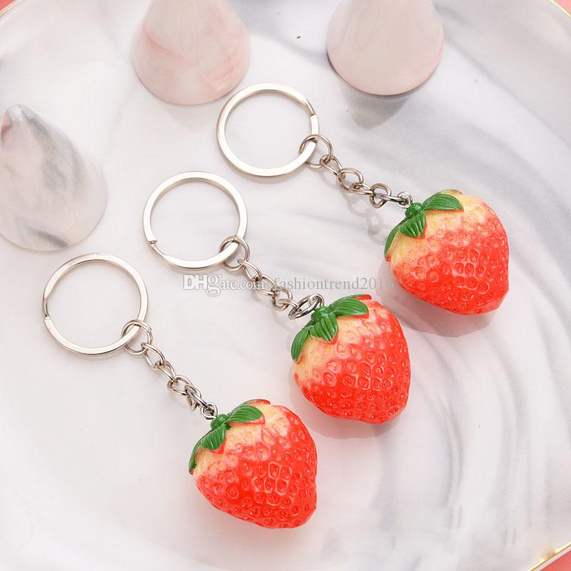 Cute Strawberry Keychain Simulation Fruit Keyring for Fashion Gift Women Girls Party Favor