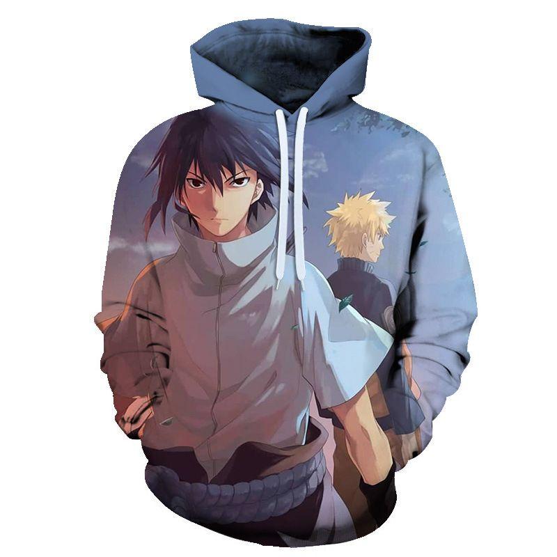 3d imprimer Nouveau Sweat à capuche Homme 3d Sweats à capuche Anime Naruto Kakashi Hatake à capuche Femme Homme occasionnel vêtement à manches longues