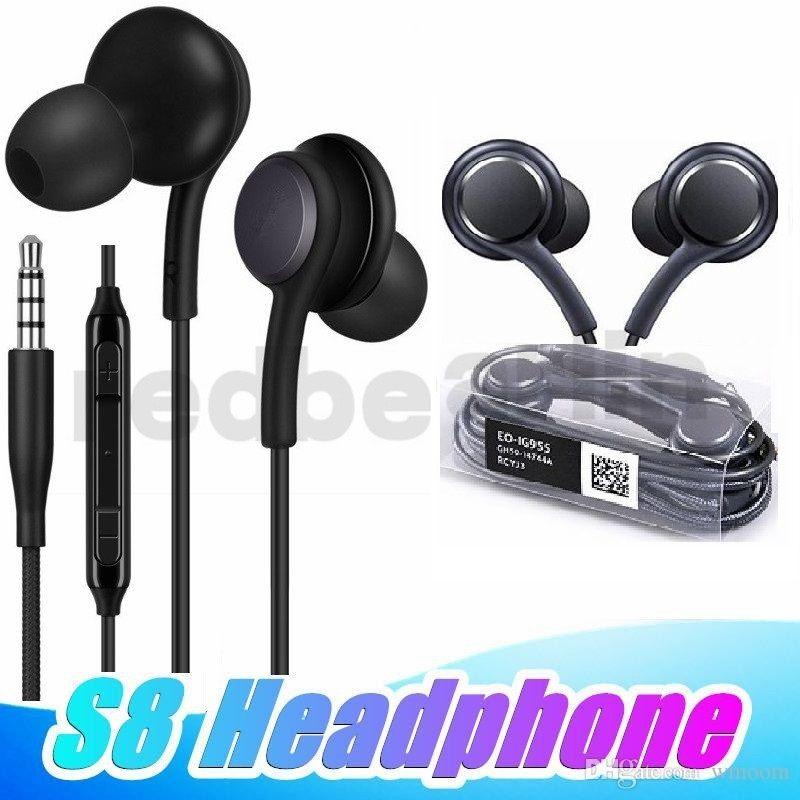 S8 Earbuds Kopfhörer-Kopfhörer-Kopfhörer-Mikrofon für Samsung Galaxy S8 Plus-S7 S6 Rand Anmerkung 5 4 Iphone 5 6 mp3 Tablet PC Kopfhörer