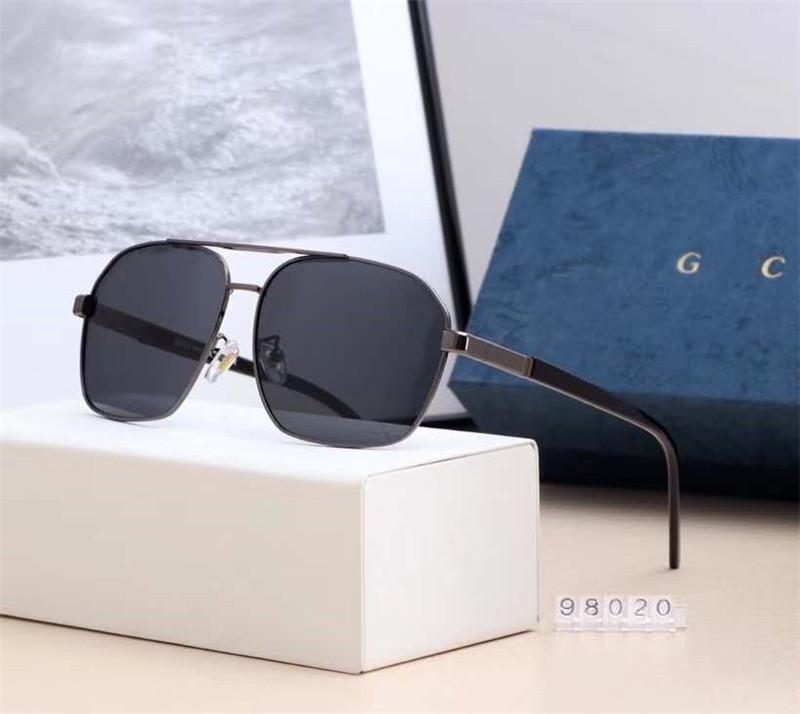 Завод прямых TOP Известные 6 цветов мужчины солнцезащитные очки Поляризационные очки с пакетом Box быстрой бесплатной доставкой 98020