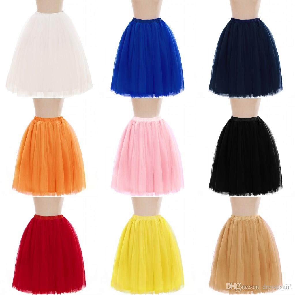 Cheap Petticoats 5 Layers Tutu Skirts For Wedding Bridal Dress Free Shipping Women A Line Short Party Dress Mini Skirt CPA583