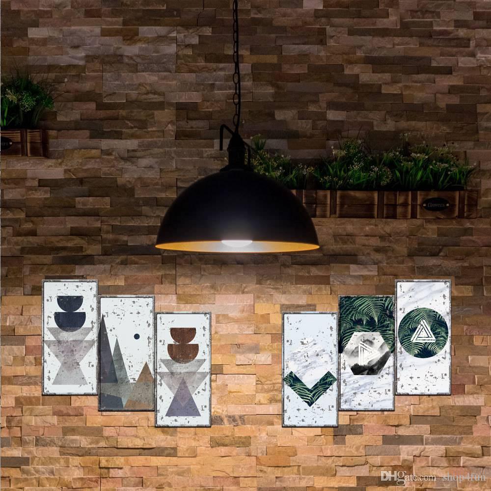 Pinturas B Imitação de Metal Placas de parede parede para a decoração Home Campeão Shell Motor Oil Garagem Route 66 Vintage Retro Wall Stickers MW
