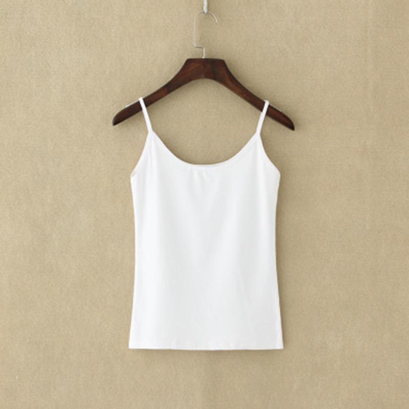 Sexy Top Tank Top Women Fashion Camisoles Frauen Tops T-Shirt mit Spaghetti-Bügel geerntete Weste Synthetic Cotton Rosa-Schwarz-Weiß