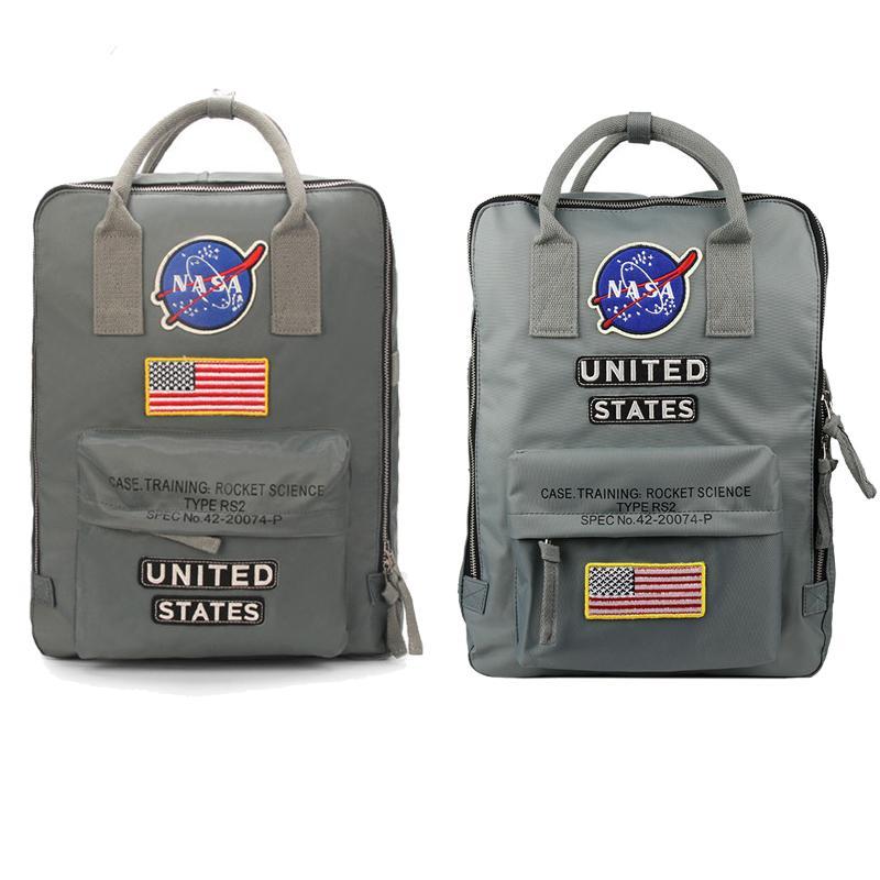 حقائب الظهر ناسا 19ss العلم الوطني مصمم حقيبة رجالي المرأة تصميم حقيبة للجنسين أكياس الطلاب