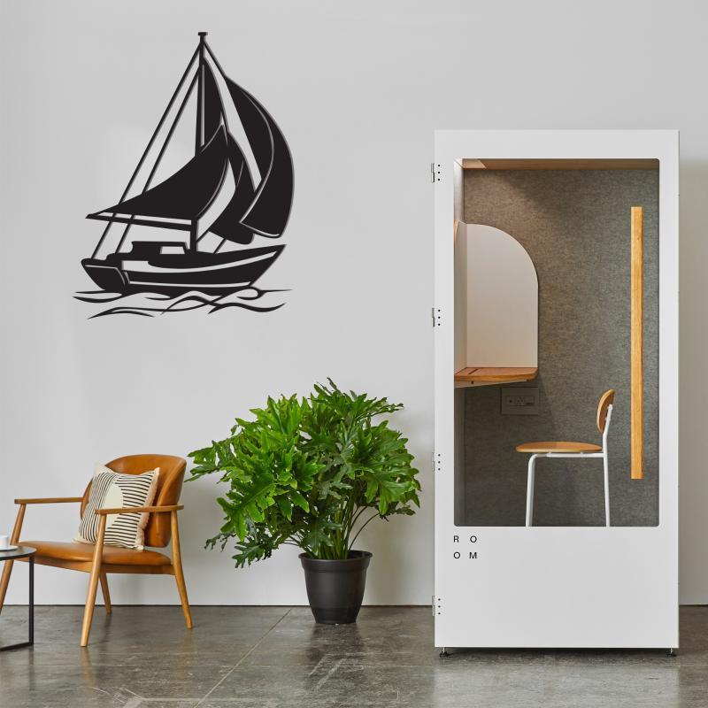 Barco decoración de la pared, barco de metal pared del arte, decoración náutica, la Marina Marine Art, Lago decoración de la casa, el diseño minimalista, Sea Life