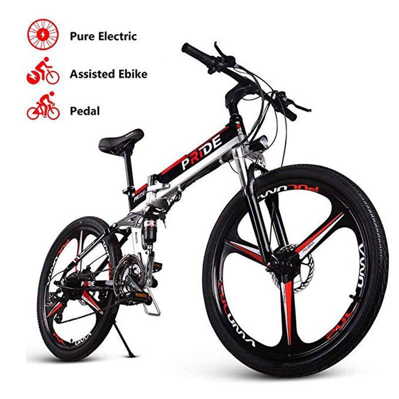 Bicicleta eléctrica 26inch Aluminio Bicicleta eléctrica plegable 500W Potente Mottor 48V12.5A Batería 21 Velocidad Bicicleta de montaña Bicicleta de playa