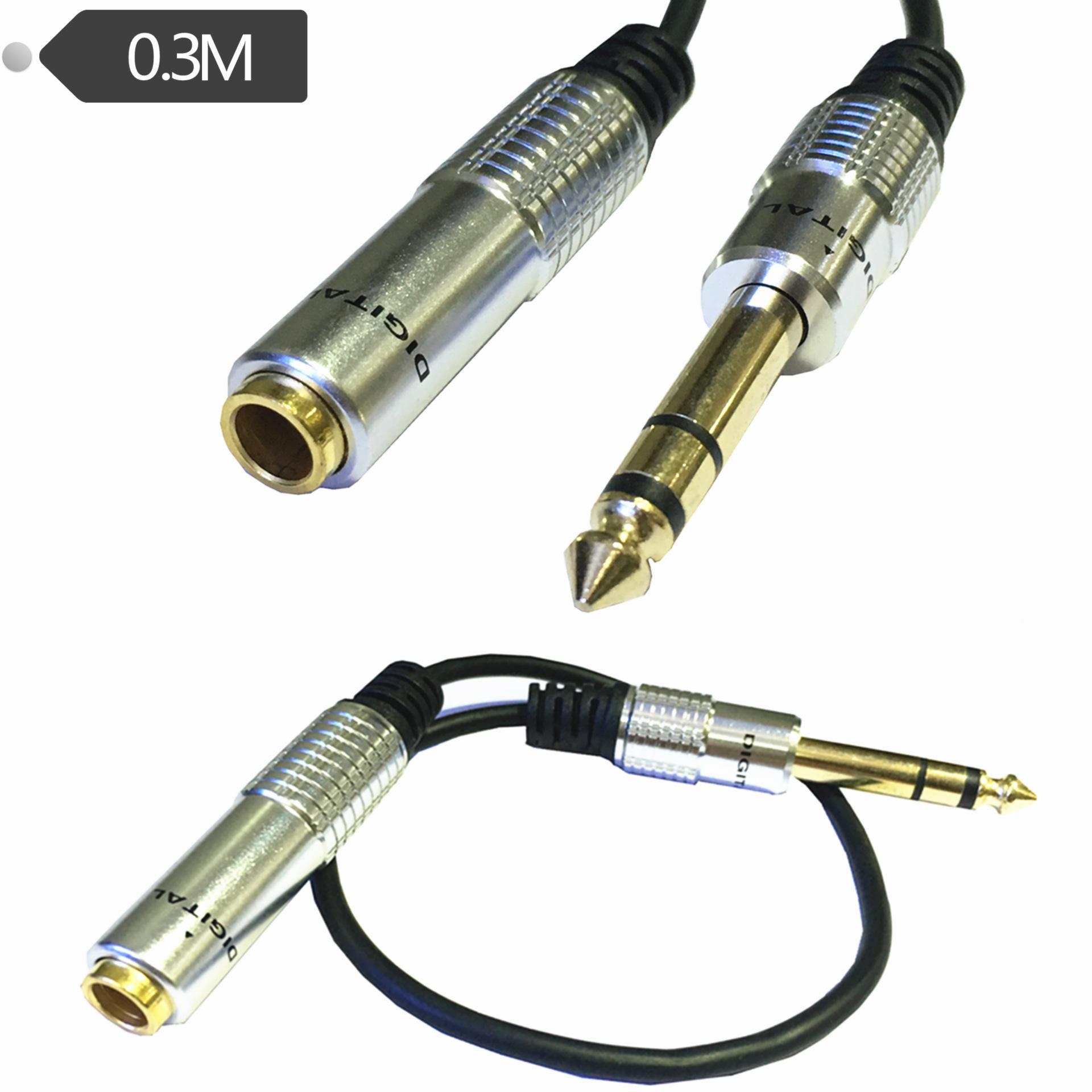 6.35SP M-6.35 SP F كابل 1FT ستيريو 6.35 الثورة 6.35 كابل محول الصوت الإناث