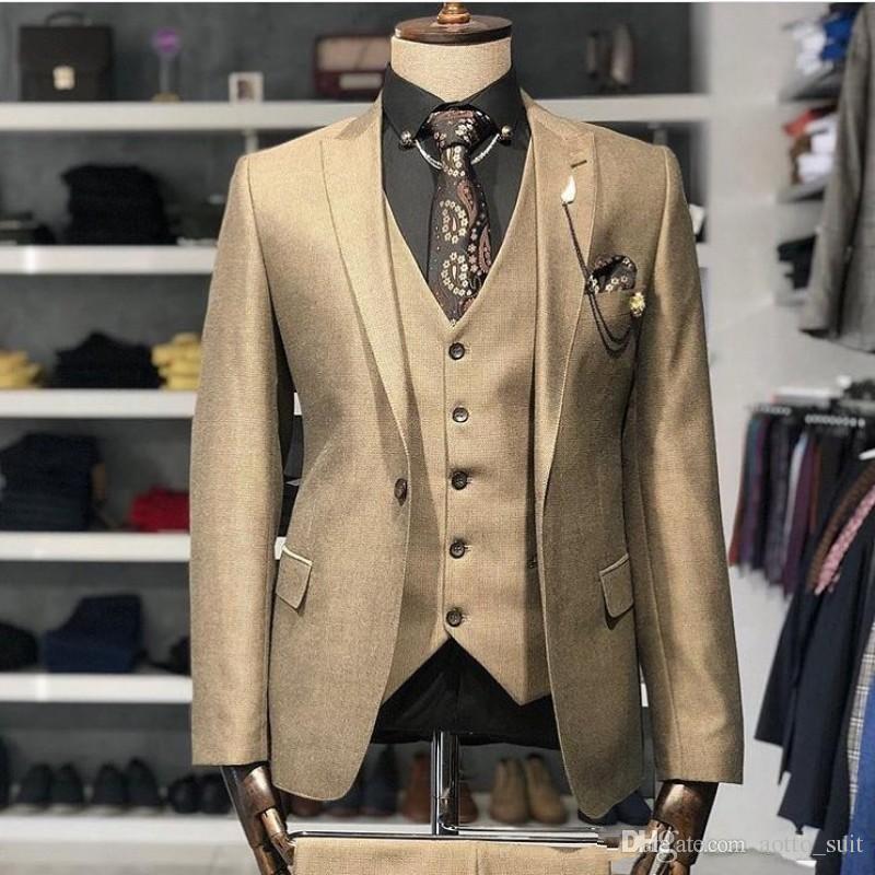 Excellente smokings marié Shinny or Hommes mariage Smokings pic Slim Fit homme Lapel Blazer mode 3 Piece Suit (veste + pantalon + veste + Tie) 98