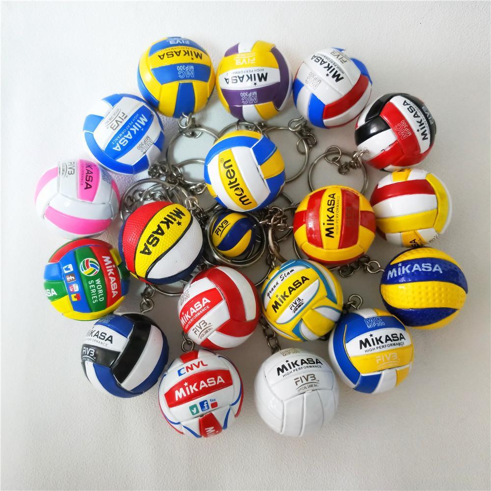 10PCS V200w voleibol llave clave de la cadena Sport regalos del sostenedor del anillo dominante de los jugadores de voleibol bola bolsa de coches Llaveros