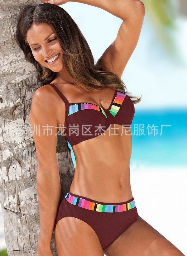 2020 neue Bikini-Explosion Modelle Gradient 4-Farben-Badeanzug Stahlstütze sammeln Badeanzug Badeanzug Hersteller