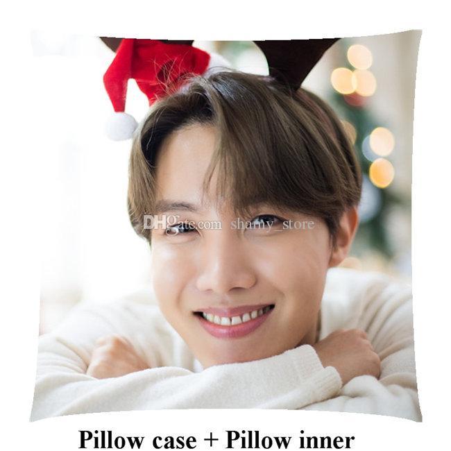 Home Textiles New Kpop j-hope Square Pillow Jeong Ho Seok pillow within inner customize birthday girl