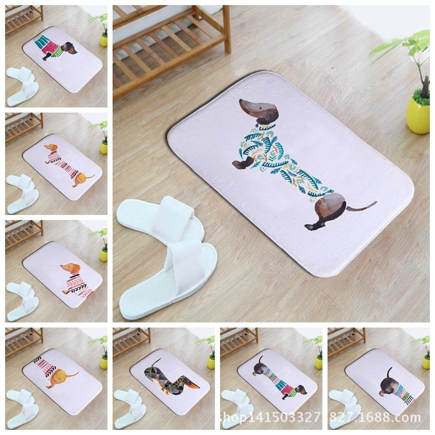 Lovely Sausage Dog Pattern Home Furnishing Bedroom In Front Of The Door Non-slip Land Pad Carpet Mixed Batch
