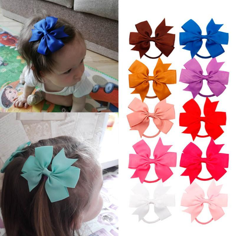 1Pack Wholesale Hair Accessories Baby Headband Grosgrain Ribbon Hair Bows for Girls Handmade Clip Kids Band Children