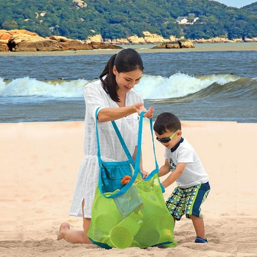 Extra Large Capacity Sand Free Mesh Bag Children's Beach Toy Storage Bag Swimming Perfect for Holding Children Toys