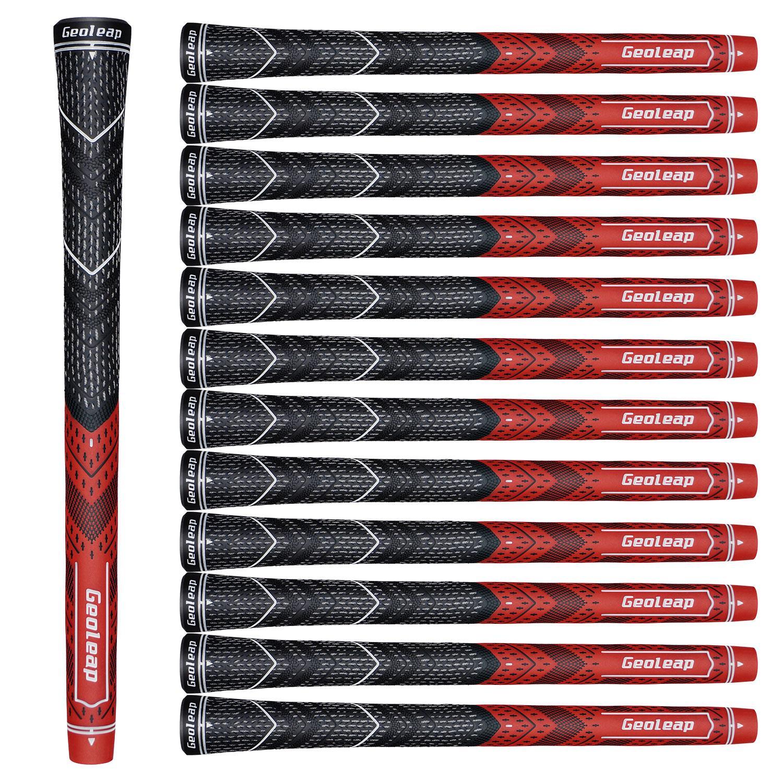 Geoleap Golf plancha estándar Grip Nueva Multicompound 8 colores shiping Golf Club apretones de carbono Hilados gratuito