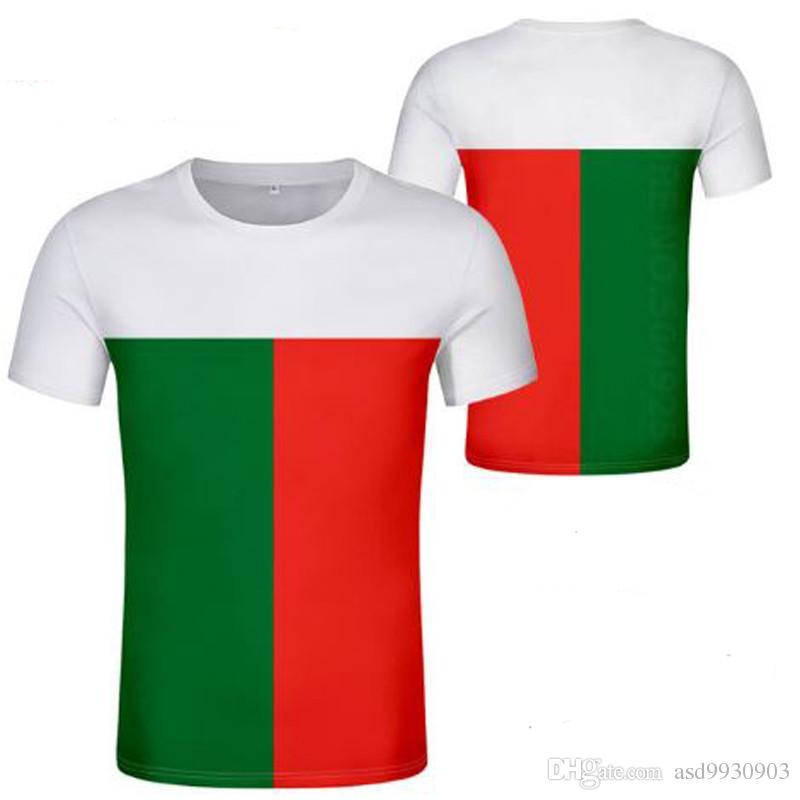 МАДАГАСКАР футболка сделай сам заказное имя номер MDG футболка флаг нации малагасийский французская страна печати фото логотип одежда