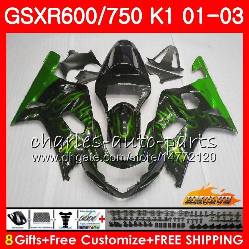 هيكل 8Gifts لسوزوكي GSXR 600 750 GSXR600 2001 2002 2003