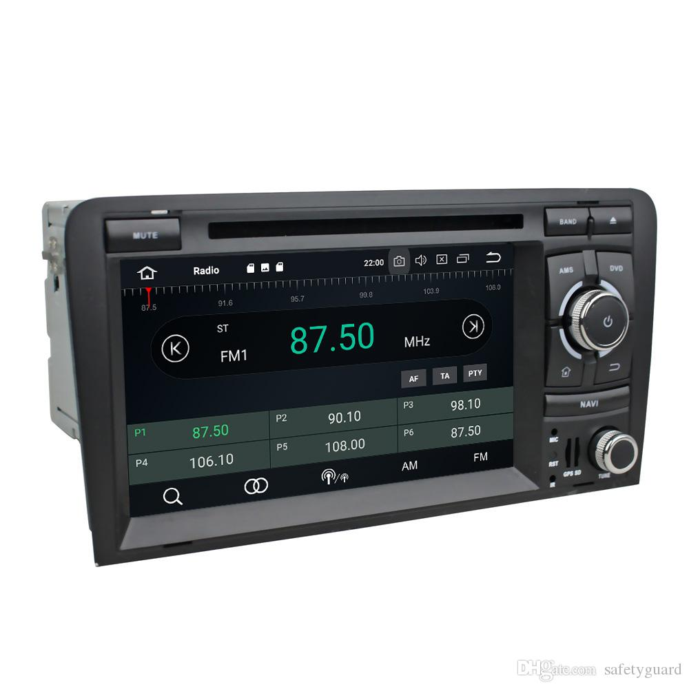 """PX5 Octa Core Android 8.0 HD 2 din 7"""" Car DVD Radio GPS for Audi A3 S3 RS3 2002-2011 Car Audio Bluetooth WIFI 4GB RAM 32GB ROM"""