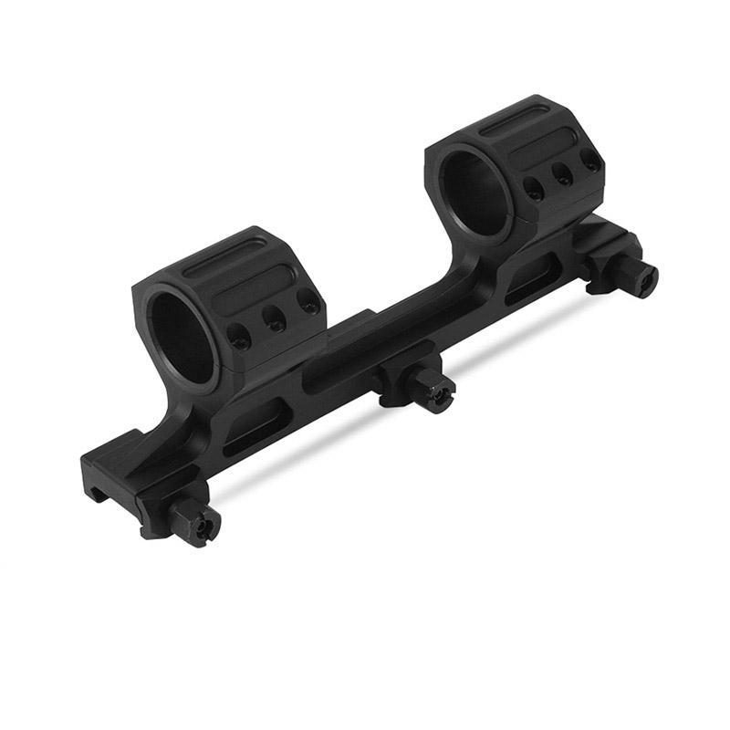 Hunting Optics 20mm Weaver Rail 25.4mm Ring Mount For Rifle Scope Black