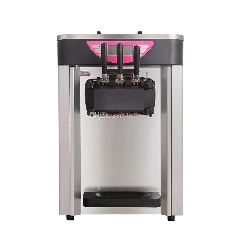 Comercial 3 Sabores de escritorio máquina de helados ahorro de energía certificado CE Salel caliente máquina para hacer helados