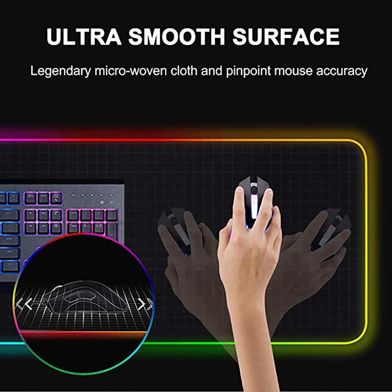 LED Leucht Gaming Mouse Pad Bunte Maxi-glühender USB-LED Erweiterte Illuminated Keyboard PU Anti-Rutsch-Decke